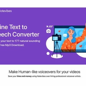 Notevibes Text to Speech Personal Pack Premium Subscription [LIFETIME]